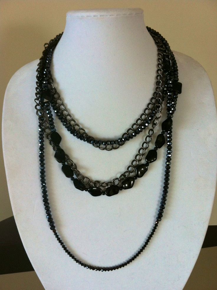 Handmade multistrand necklace! www.etsy.com/shop/kaczdesigns