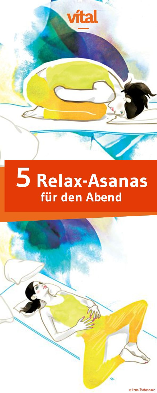 Fünf Relax-Asanas für den Abend