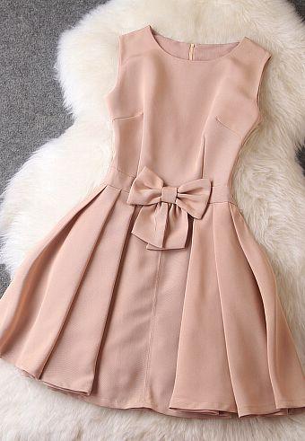 Fashion Bow Sleeveless Dress