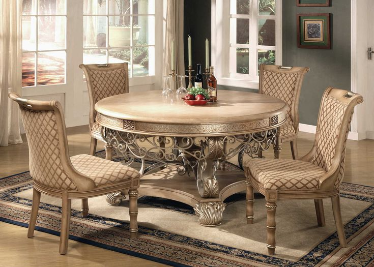Light Brown Finish Traditional Dining Room Set W/Options