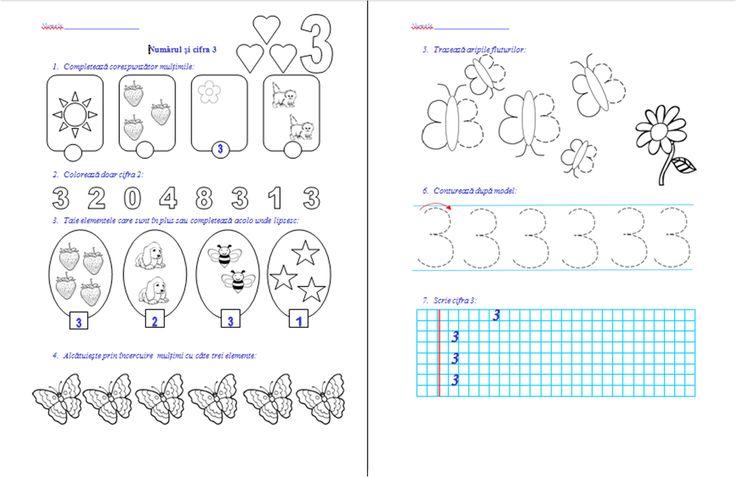 Materiale didactice de 10(zece): Numărul şi cifra 3, numărul şi cifra 0- clasa pregătitoare-M.E.M.