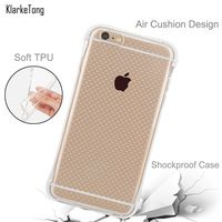 Anti-knock Shockproof Clear Soft Silicone Case for iPhone 6/6s 6 Plus/6s Plus Transparent TPU Phone Cover