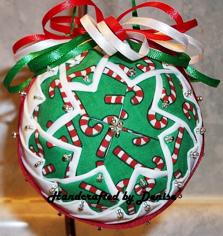 91 best Ball Board images on Pinterest | Christmas tree crafts ... : quilted fabric ornaments - Adamdwight.com