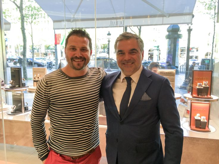 with Patrice Dubail @dubailparis French Touch Seduction ♥️#champselysees #dietlindisplaycase @thierrycastagna thank you gentlemen!