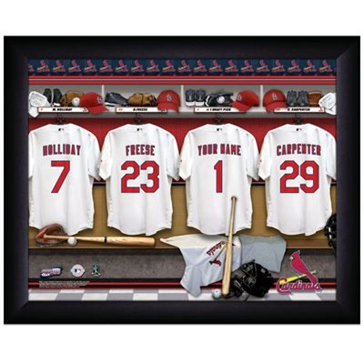 St Louis Cardinals Customized Locker Room Black Framed Photo