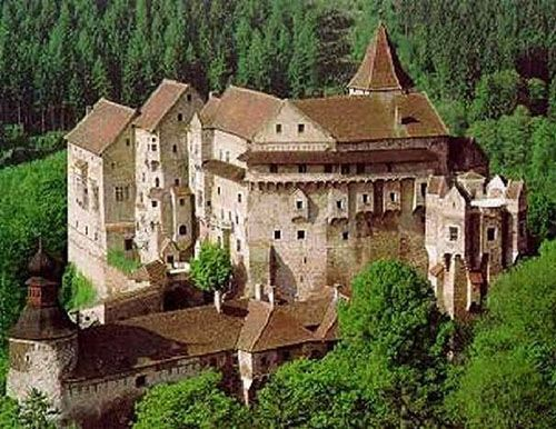 Pernstejn Castle, Nedvedice, South Moravian Region, Czech Republic. www.castlesandmanorhouses.com Pernštejn Castle (Czech: hrad Pernštejn) is located above the village of Nedvedice and the rivers Svratka and Nedvedicka, some 40 km northwest of Brno....