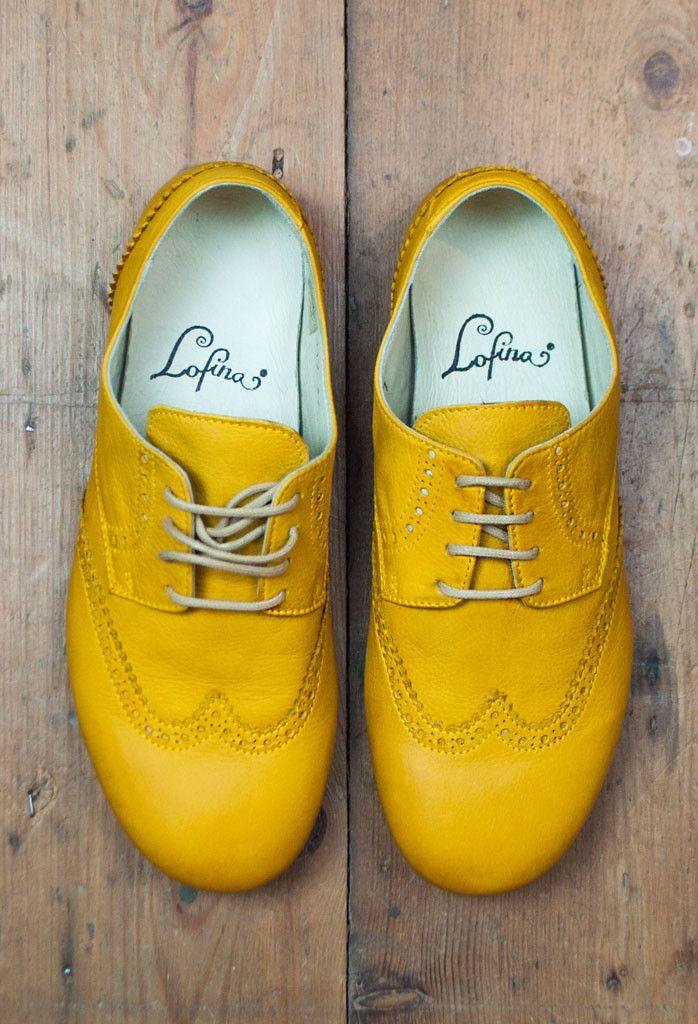 Lofina Soft Sunshine Yellow Brogues