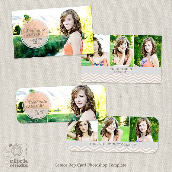 Senior Rep Card Template for Photographers by ClickChicksDesigns
