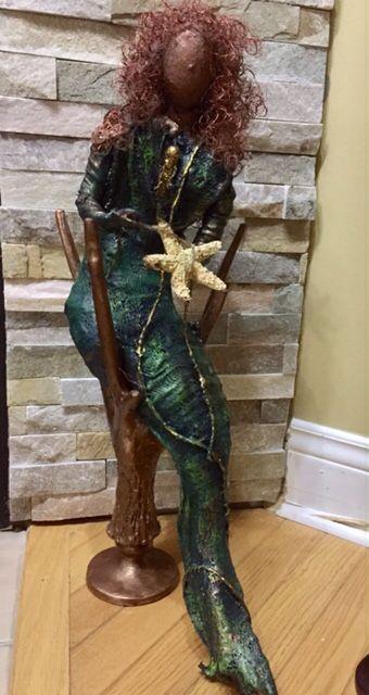 Mermaid Mary www.gardeninspirations.ca #powertex #paverpol #gardensculpture #sculpture