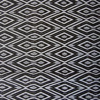 Vloerkleed zwart-wit ruit