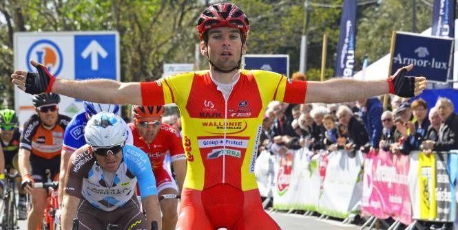 Cyclisme sur route - Cyclisme sur route - Baptiste Planckaert, lors du Tour du Finistère en avril dernier. (B. Bade / L'Equipe)  Baptiste Planckaert, lors du Tour du Finistère en avril dernier. (B. Bade / L'Equipe) Le coureur belge s'est imposé dimanche...