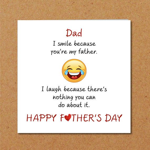 Funny Father\'s Day Card - smile laugh happy humorous amusing ...