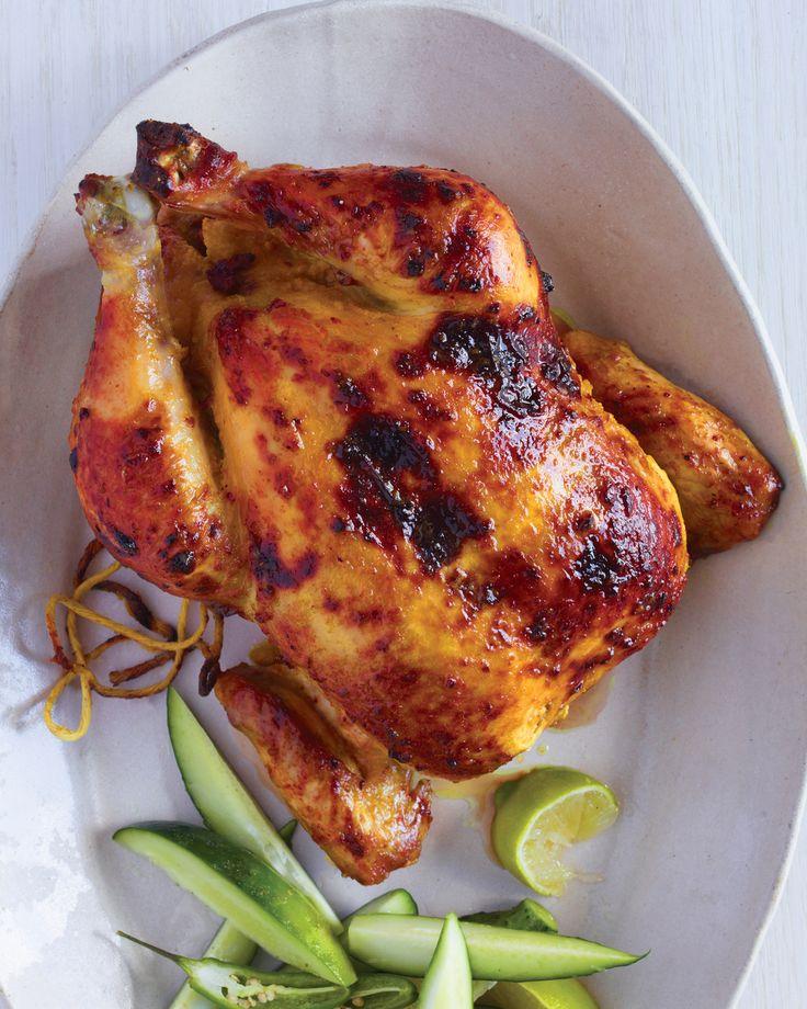Tandoori-gemarineerde kip met komkommer, Lime, en Chiles Recept | Martha Stewart