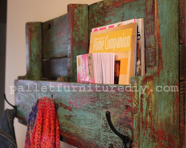 DIY SHELVES FROM PALLETS   DIY Pallets Pallet Furniture Plans Pallet Projects Recycled Pallet ...