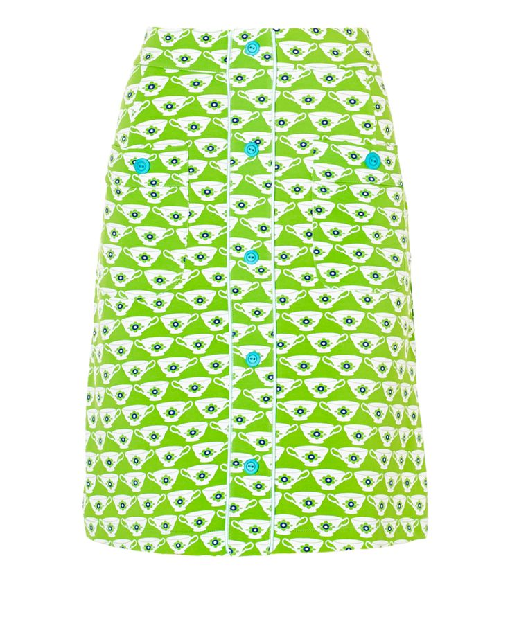 Skirt Cup of Tea Green - Rokjes -Tante Betsy.com