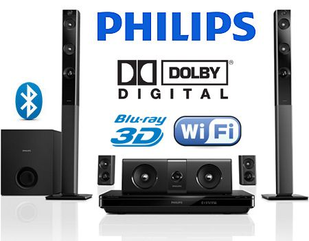 #plugsterpintowin  Philips 3D Blu-Ray 1000 Watt 5.1 Home Theater System with WiFi