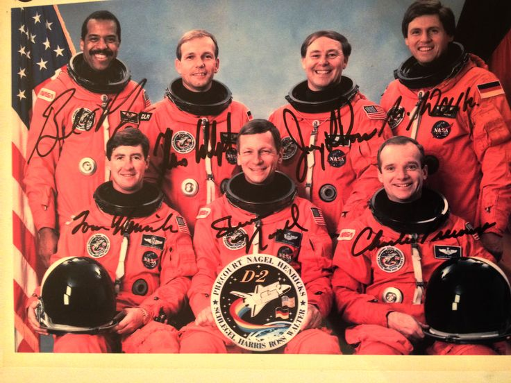 STS 55 / Spacelab-D2 crew, I used to work with
