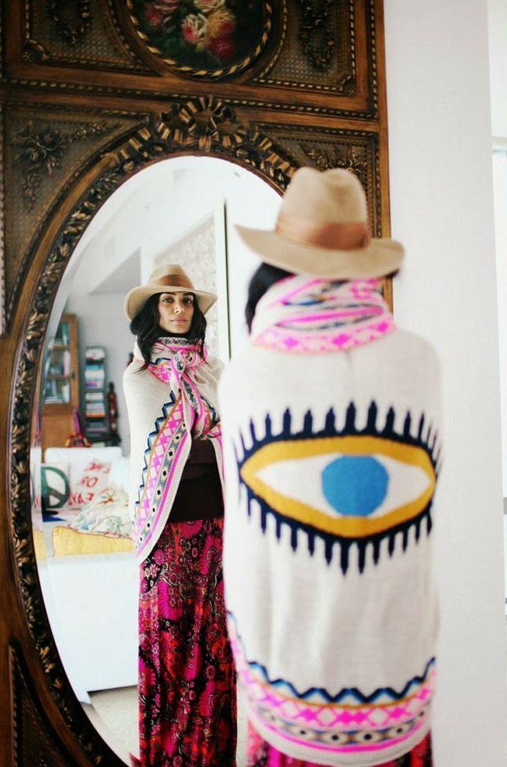 Mara Hoffman eye shawl