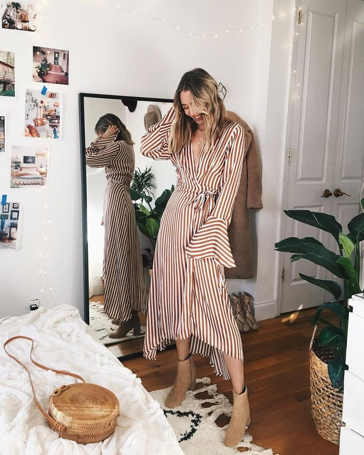 chic midi dress for a tropical vacation, easy vacation outfit idea for women, casual chic vacation outfit for young women