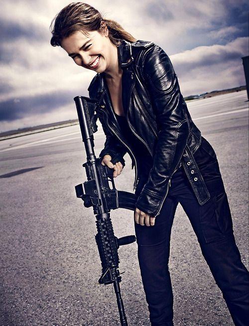 Emilia Clarke for Terminator: Genisys (2015).