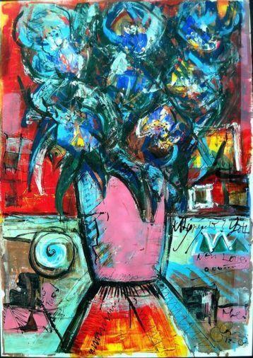 Attualmente nelle aste di #Catawiki: Giuliano Rossi (GRossi) - Vaso di fiori