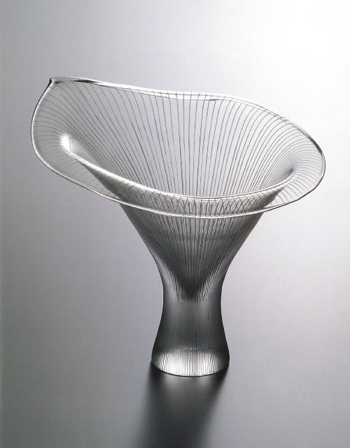 Finnish Glass Kanttarelli, design by Tapio Wirkkala. Moma have number 6 in it's collections :) This vase won a price in Milan at 1951.
