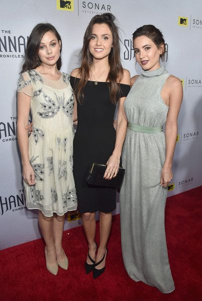 "Ivana Baquero Photos Photos - Actors Brooke Williams, Poppy Drayton and Ivana Baquero attend the premiere of MTV and Sonar Entertainment's ""The Shannara Chronicles"" at iPic Theaters on December 4, 2015 in Los Angeles, California. - Premiere of MTV's 'The Shannara Chronicles' - Red Carpet"