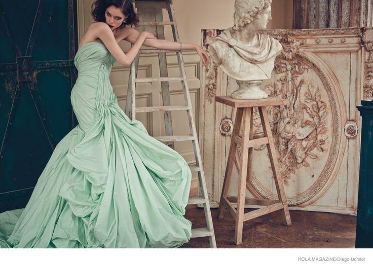 """Coco's Glamorous Shoot"" | Model: Coco Rocha, Photographer: Diego Uchitel, Hola Mexico Magazine, December 2014"