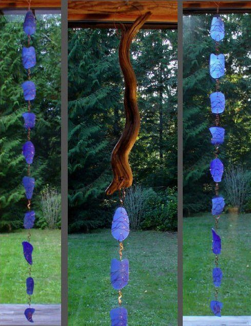 Another Rain Chain option   don't forget to have a rock or rocks or a pot or something like that at the bottom to dissipate the falling water