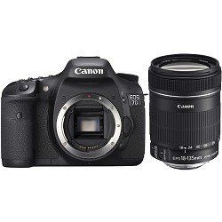 Canon EOS 7D 18 MP CMOS Digital SLR Camera with 3-inch LCD and 18-135mm f/3.5-5.6 IS by Canon. $1699.00. Update - June 28, 2012: Canon has announced a firmware update for the EOS 7D Digital SLR camera that adds new functionality to improve its performance for serious photographers and semi-professional users. The update, which will be available in early August free to all EOS 7D owners, gives the camera more advanced shooting options, including an increase in the maximum nu...