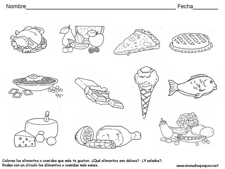Fichas sobre los alimentos