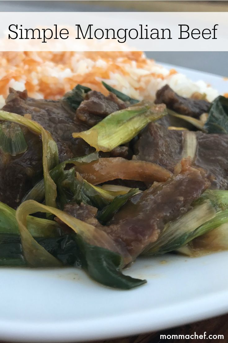 This recipe is a simple take on the classic Mongolian Beef dish. This is one of my kids' favorite Chinese dishes.