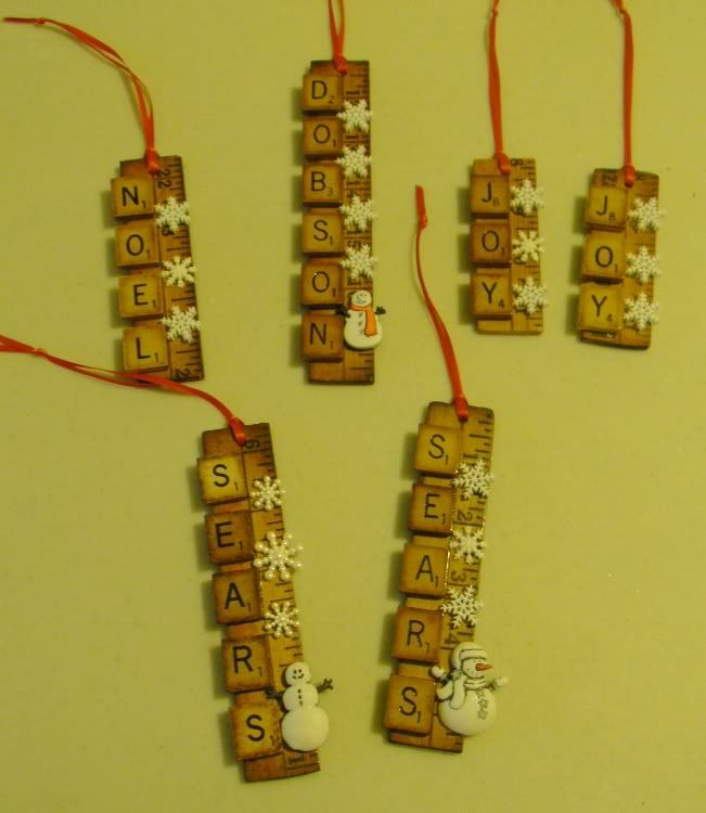 Another version of scrabble tile crafts; can add additional tiles with Christmas images (cut to scrabble tile shape) - old cards, postcards or digital images