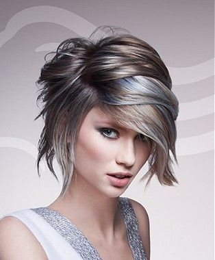 A medium brown straight coloured multi-tonal smooth body hairstyle by Wella