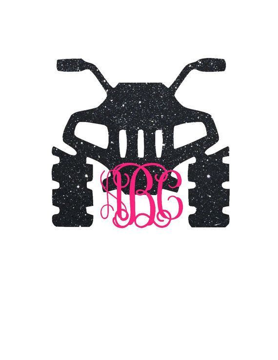 Four Wheeler Monogram Decal ATV Decal by CustomCreationsByCP