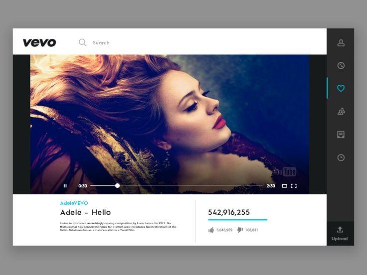 Daily UI #28 - Vevo Video Player by Ranjith Alingal