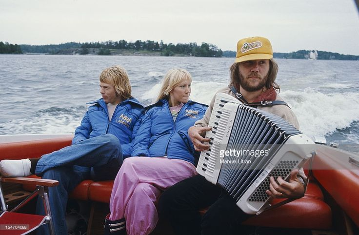 ABBA in Stockholm, 1. August 1977 // by Manuel Litran / Paris Match