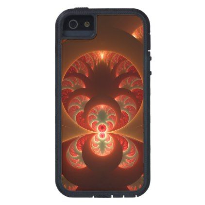 #modern - #Luminous abstract modern orange red Fractal Case For iPhone SE/5/5s
