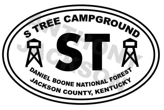 S tree campground daniel boone national forest jackson county kentucky car decal vinyl decal oracle 651 decal kentucky decal