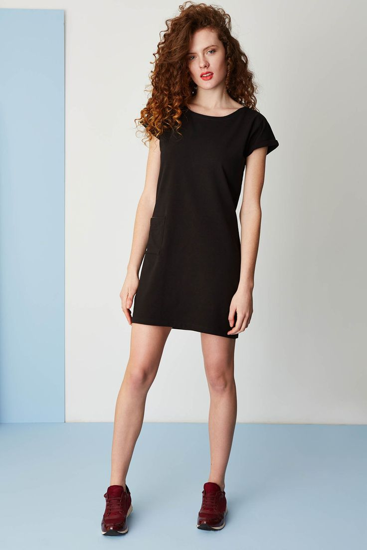 Jersey dress with pocket. #simple #basic #ss2015