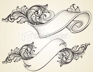 scroll banner curled scroll banners royalty free stock vector art illustration art. Black Bedroom Furniture Sets. Home Design Ideas