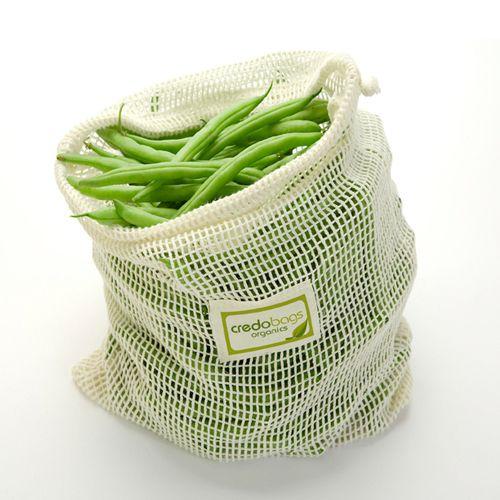 Sacs en coton organique (pour faire les courses et conserver les aliments) // Organic Cotton Mesh Produce Bag