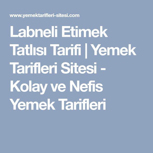 Labneli Etimek Tatlısı Tarifi | Yemek Tarifleri Sitesi - Kolay ve Nefis Yemek Tarifleri