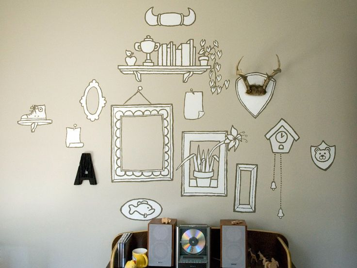 clever wall paintings