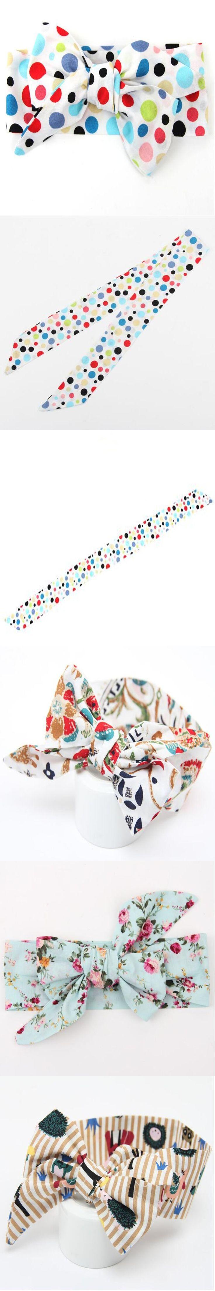 Posh Baby Girl Headwrap ,Rainbow dots Big Bow Turban Top Knot Baby Headband,Polka Dots Toddler Bow,Baby turban girls headband