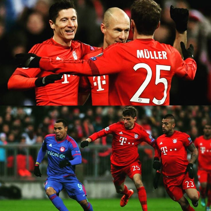 Bayern Munichsecured top spot in Group F of the Champions League in emphatic fashion on Tuesday recording a 4-0 victory over nearest rivalsOlympiacosdespite the dismissal of Holger Badstuber.  First-half goals from Douglas Costa Robert Lewandowski and Thomas Muller meant Pep Guardiola's side had the three points wrapped up inside the first 20 minutes at the Allianz Arena.  The hosts were forced to play the majority of the second half with only 10 men asBadstuber was sent off afterbringing…