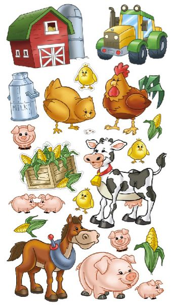 Animals > Farm Friends Sticko Stickers: Stickers Galore http://www.stickersgalore.com/shop/theme/animals/136332-Farm%20Friends%20Sticko%20Stickers