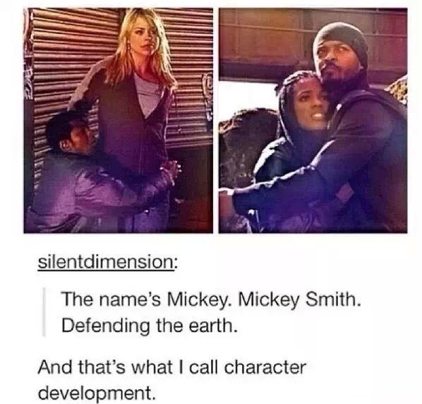 Character development. Mickey<<<<<<< MICKEY MOUSE! MICKEY THE IDIOT! MICKEY SMITH!