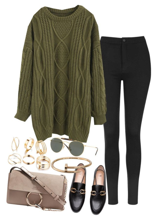"""""""Sem título #1417"""" by manoella-f on Polyvore featuring moda, Topshop, Chicwish, Ray-Ban, Cartier e Chloé"""