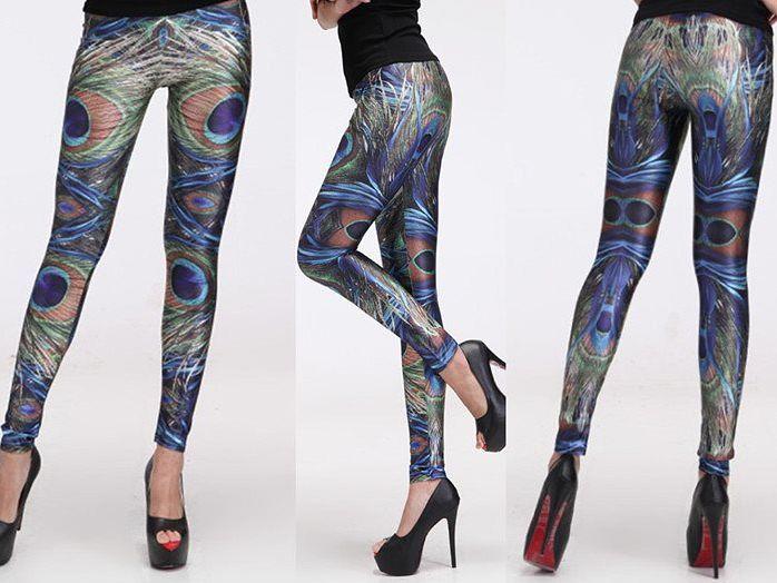 Peacock Leggings   Online Legging Store leggings,galaxy,black,bones,pink